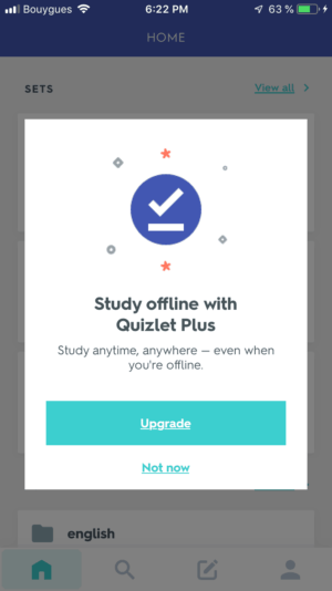 Notification on iOS by Quizlet from UIGarage
