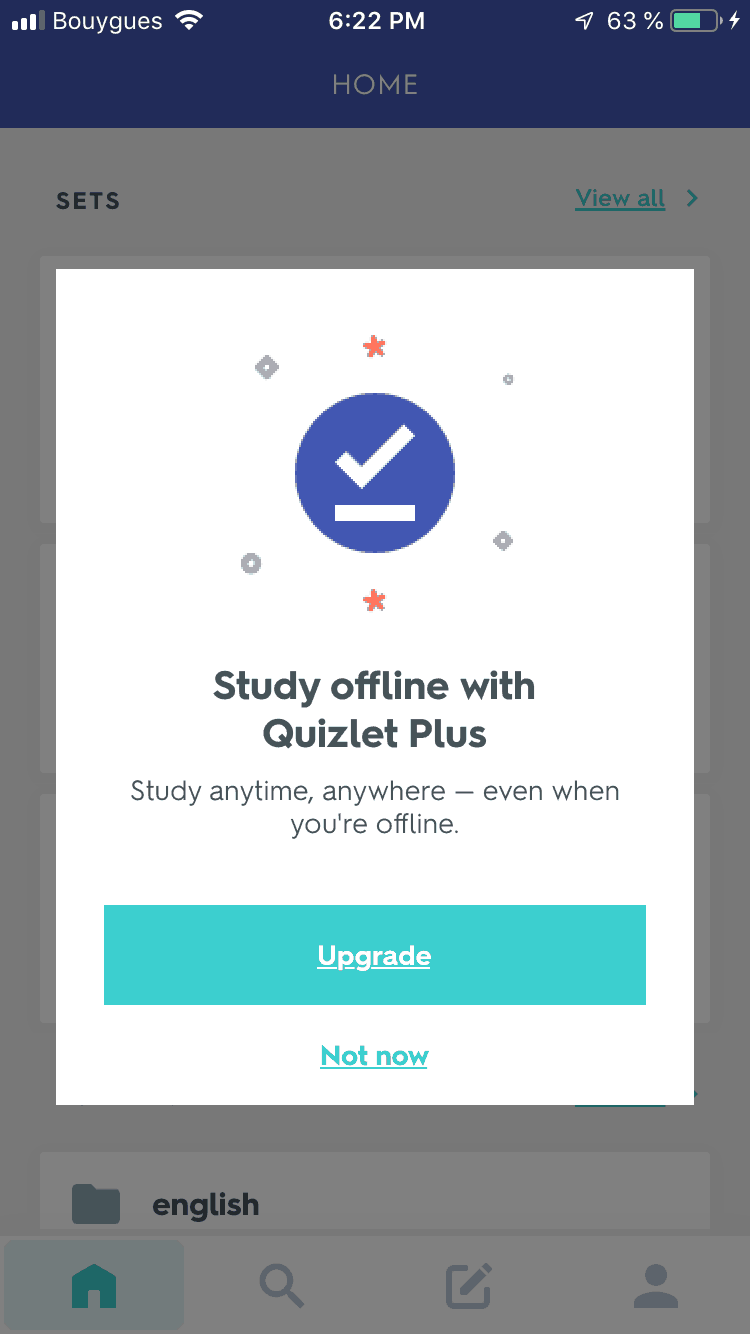 Notification on iOS by Quizlet
