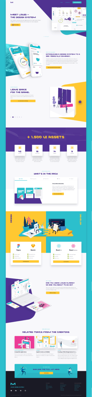 Homepage by Liquid Design System from UIGarage
