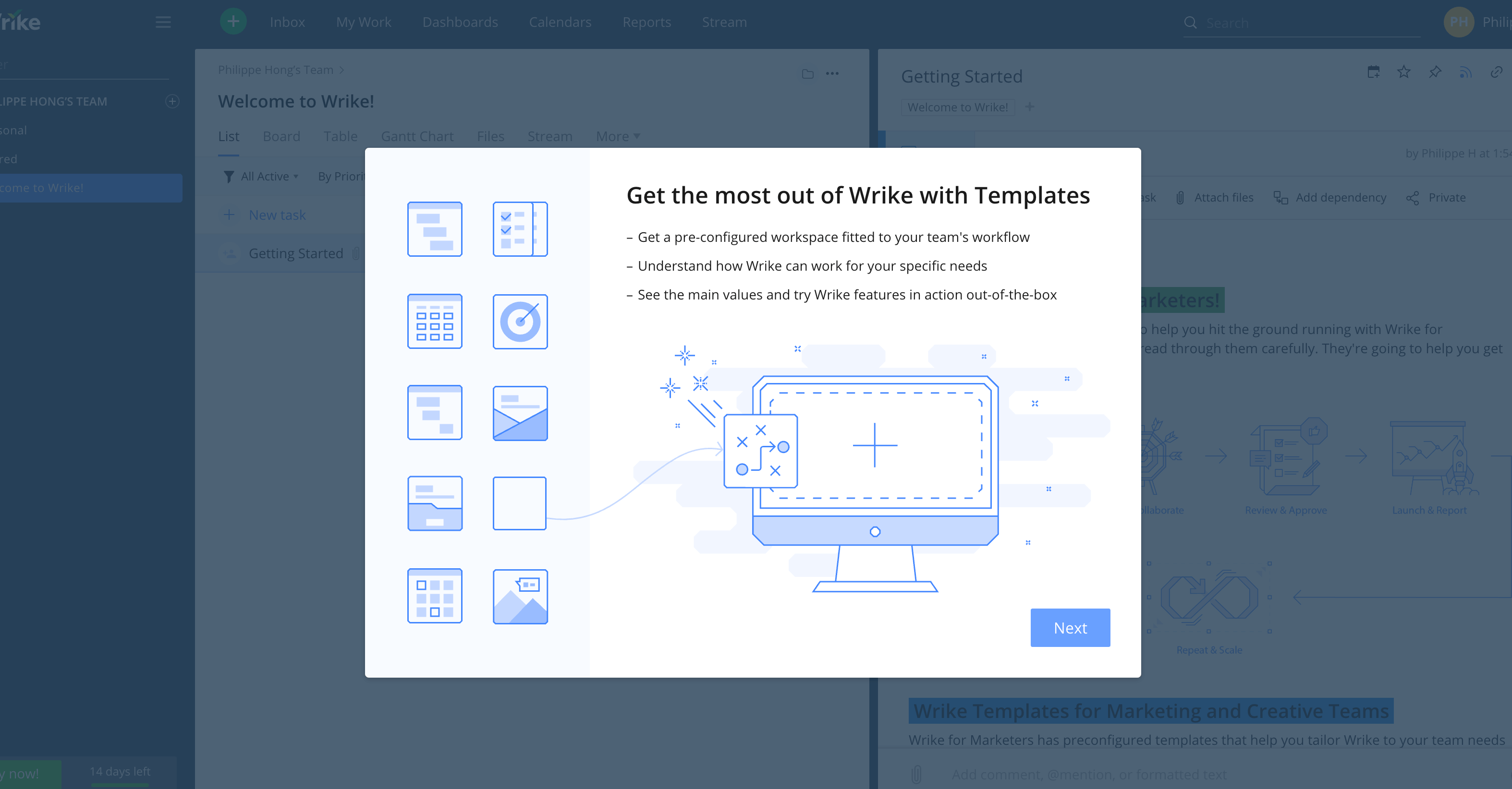 Create Project on Wrike