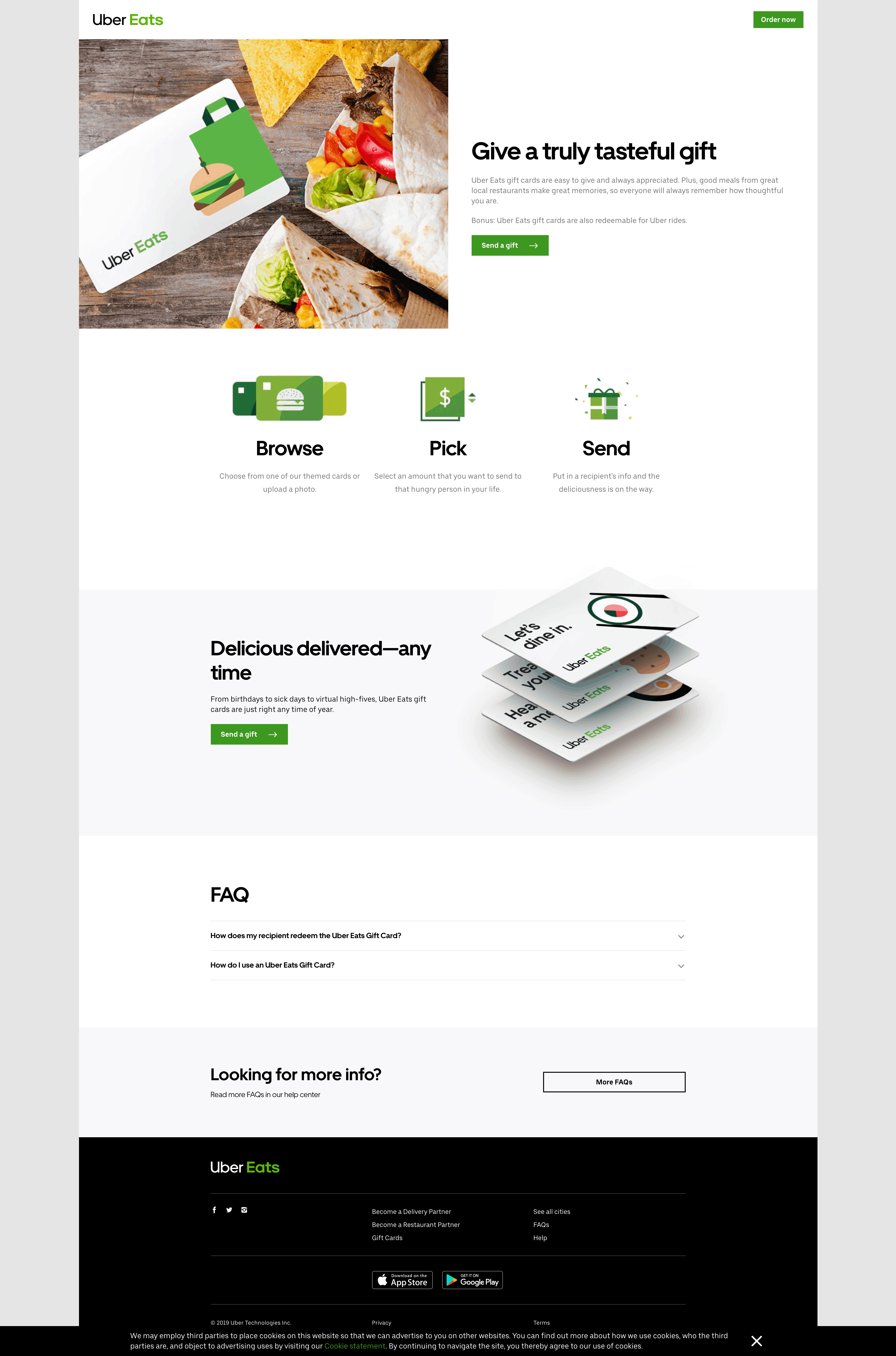 Gift Card by Uber Eats