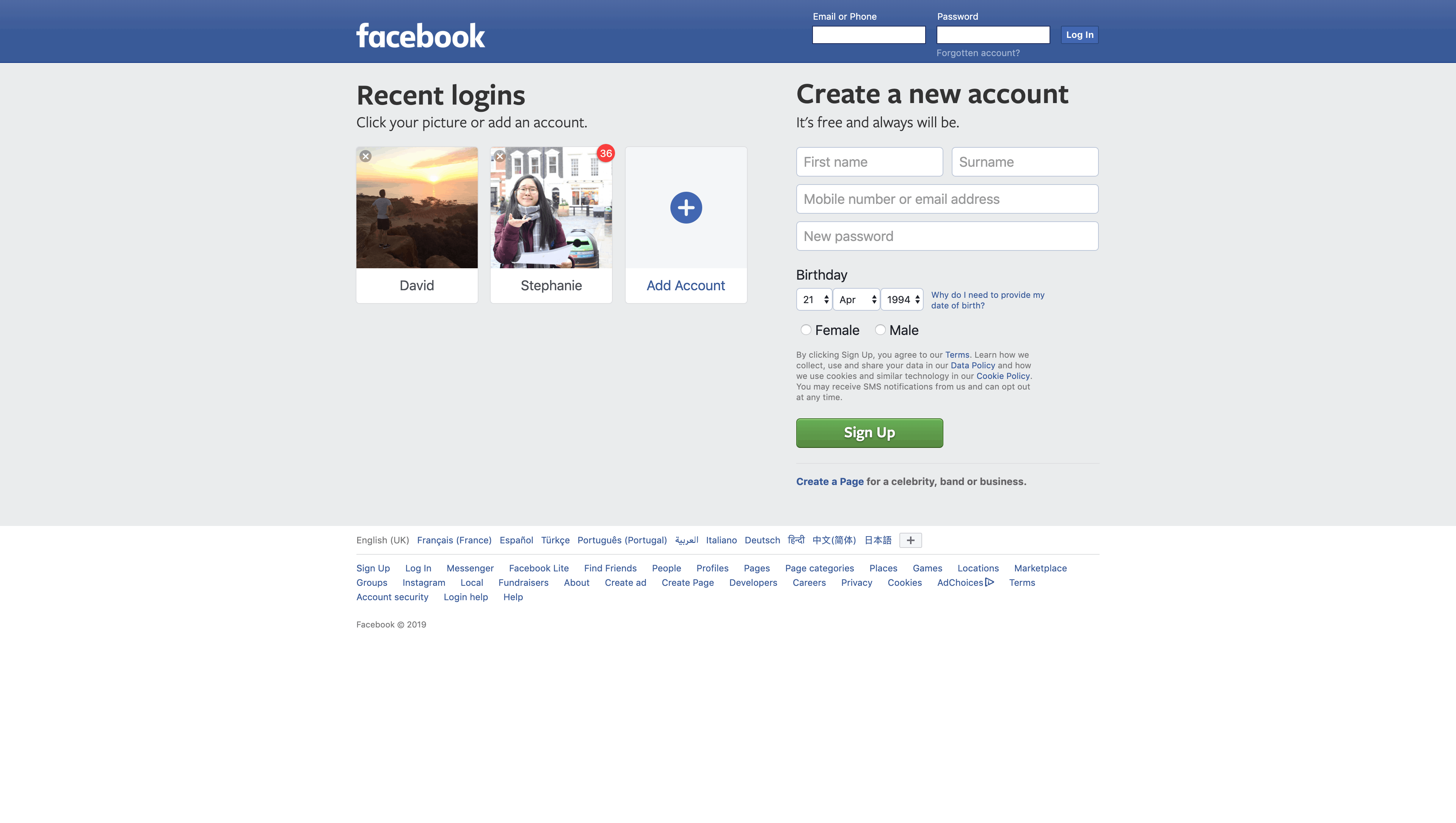 Login and Signup by Facebook