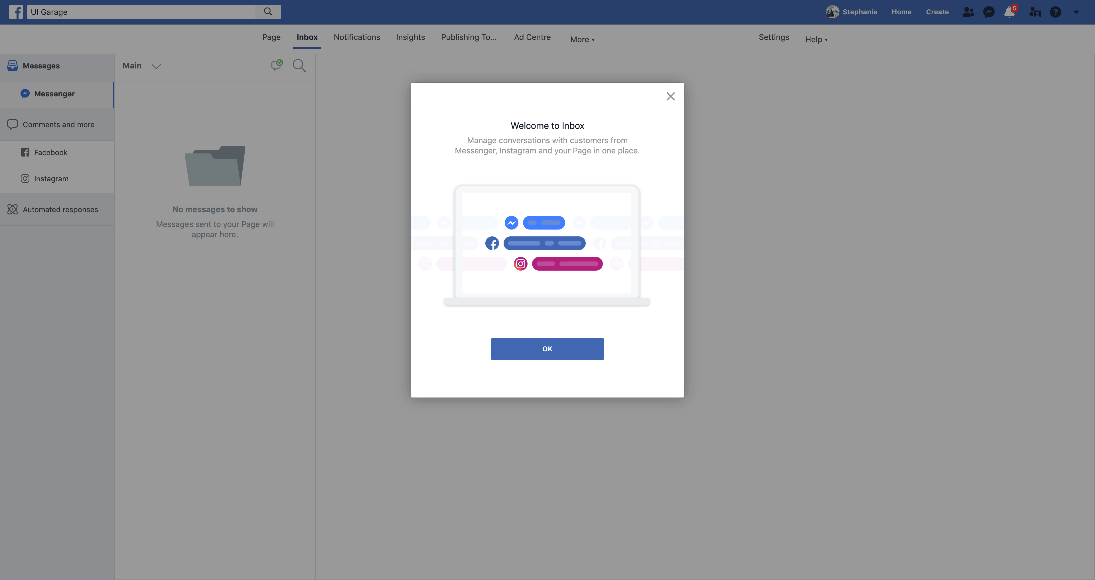 Welcome to Page Inbox by Facebook from UIGarage