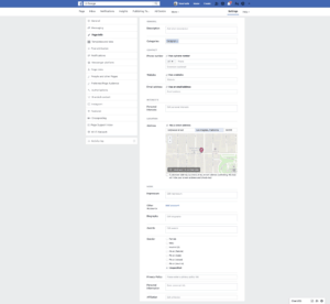 Page's Info Settings by Facebook from UIGarage