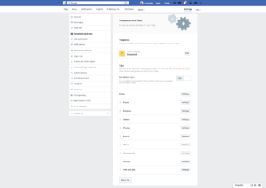 Page's Templates and Tabs Settings by Facebook from UIGarage