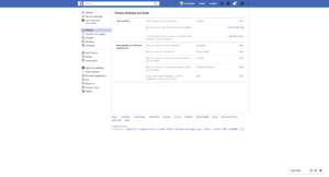 Privacy Settings by Facebook from UIGarage