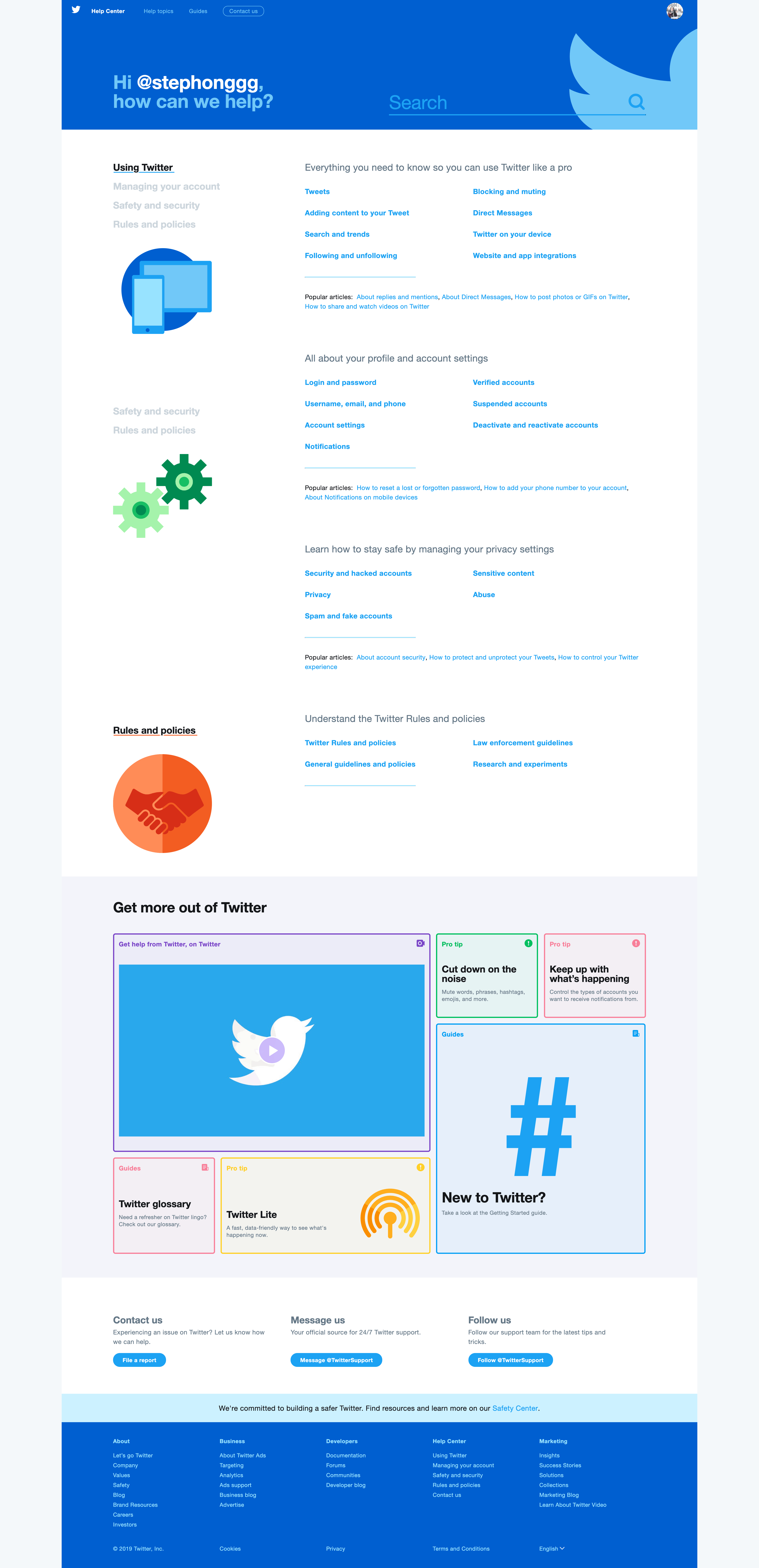 Help Center by Twitter