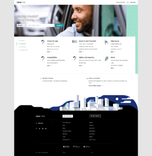 Uber Help for Partners by Uber from UIGarage