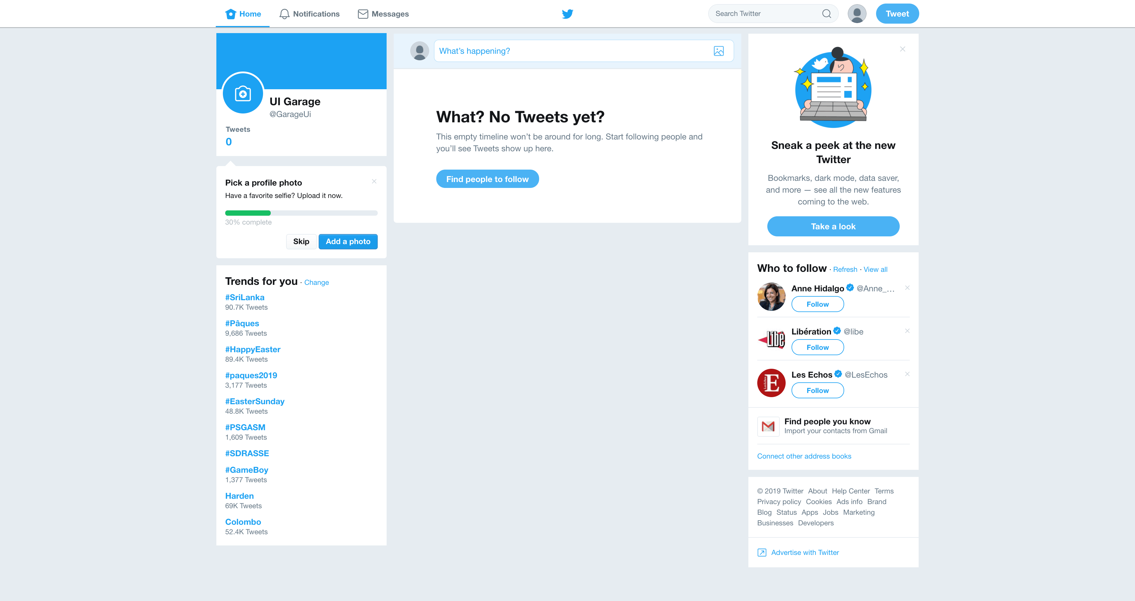 Home Page by Twitter