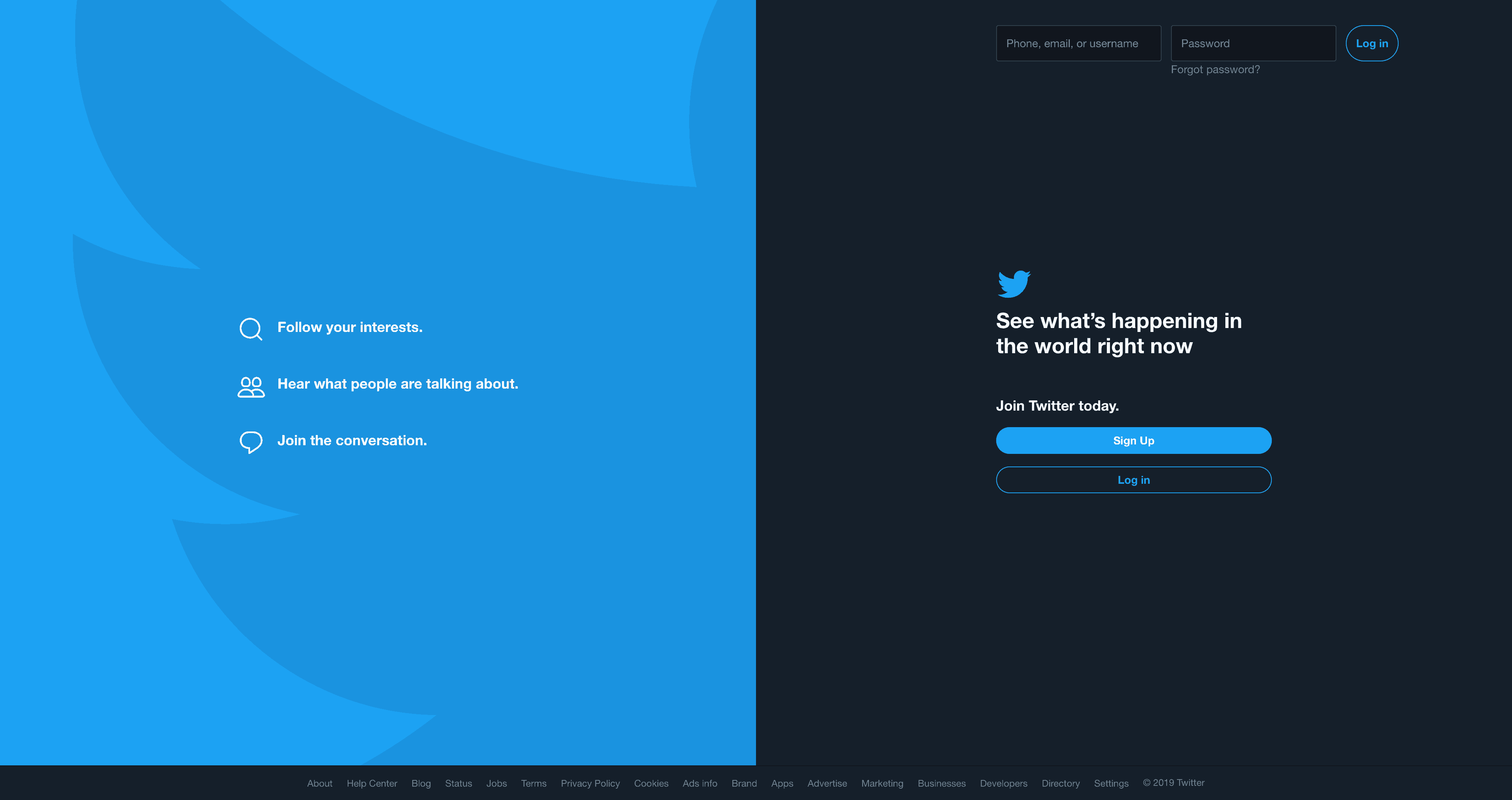 Log In & Sign in Page/Dark Mode by twitter from UIGarage
