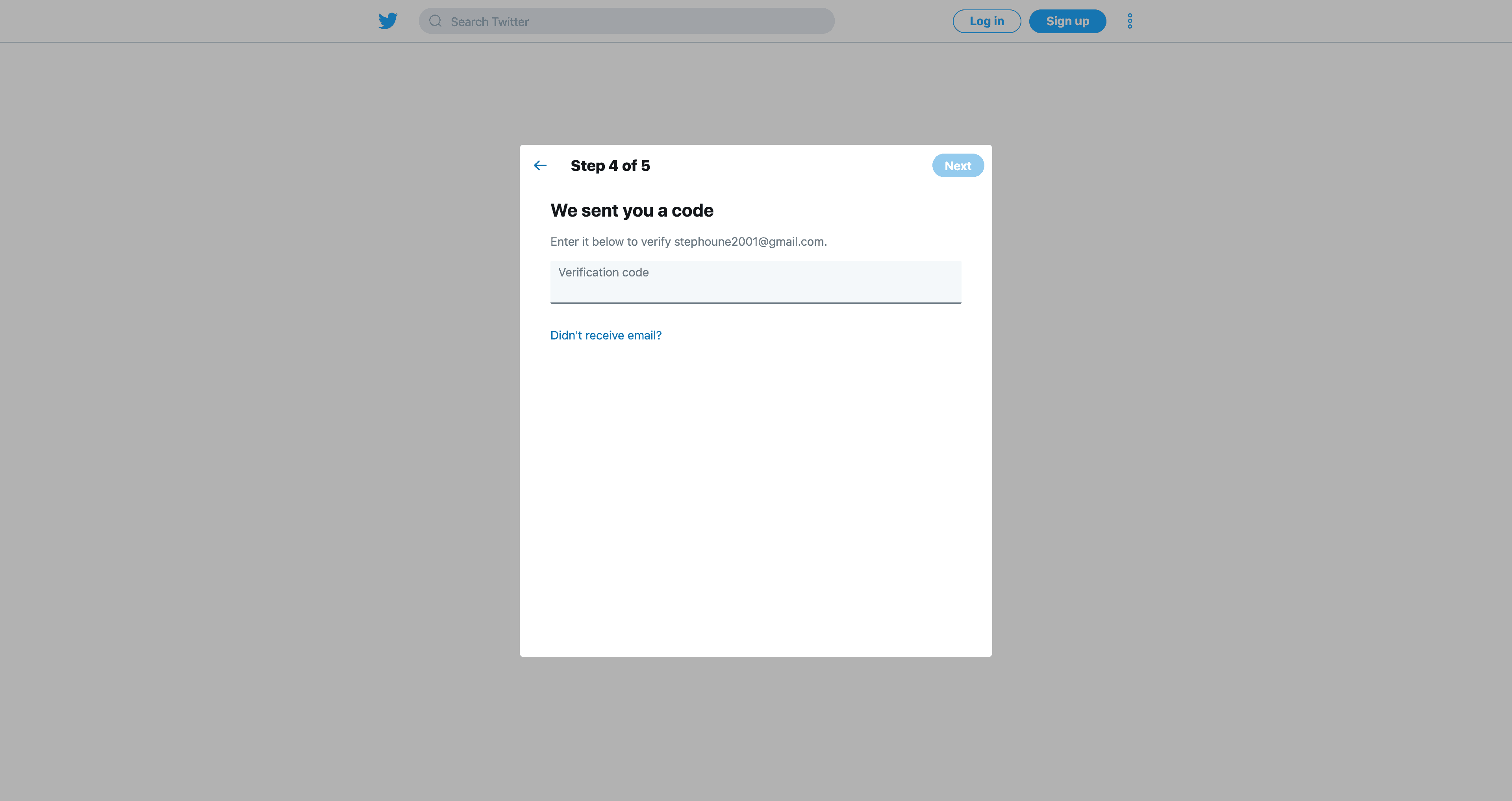 Create an account (Step 4) by Twitter from UIGarage