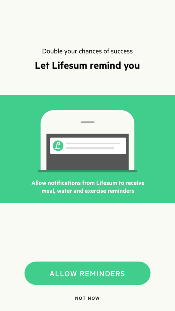 Reminder Notification by Lifesum from UIGarage