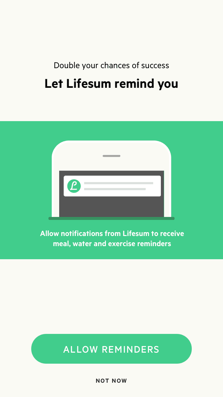 Reminder Notification by Lifesum