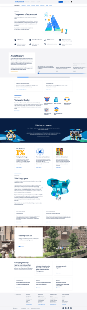 About Us Page by Atlassian from UIGarage