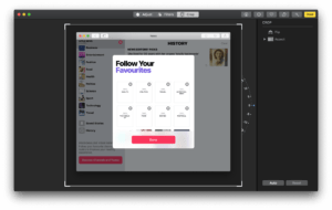 Resizing tool by Photos on Mac from UIGarage