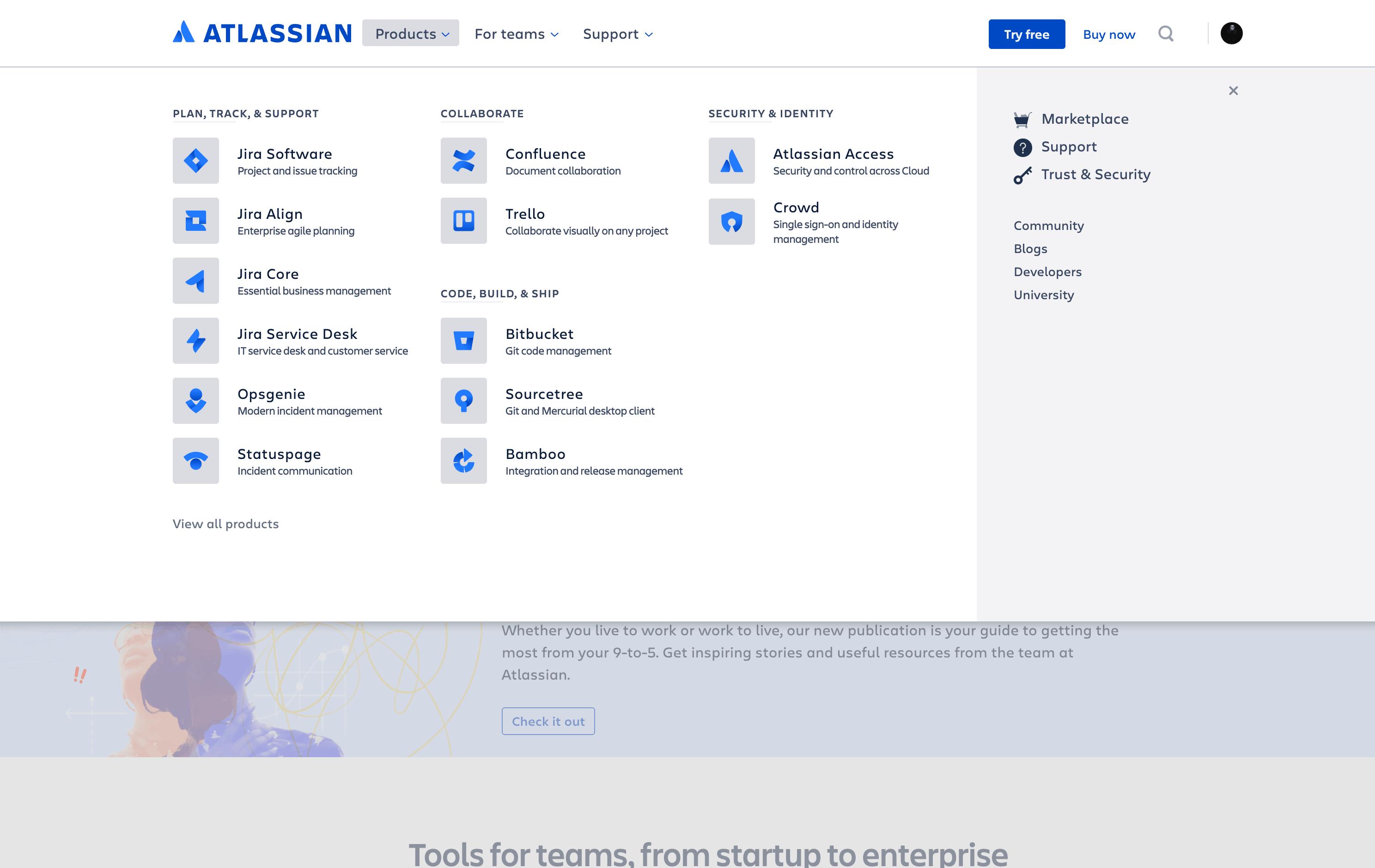 Menu by Atlassian