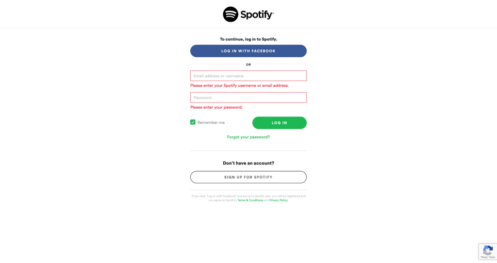 Login by Spotify from UIGarage