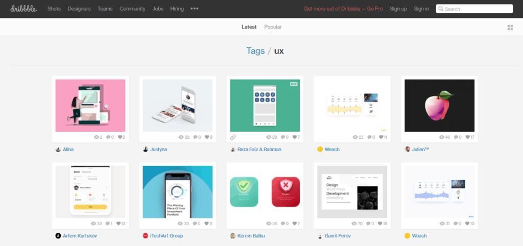 15 Best UX/UI Inspiration Websites in 2019 from UIGarage