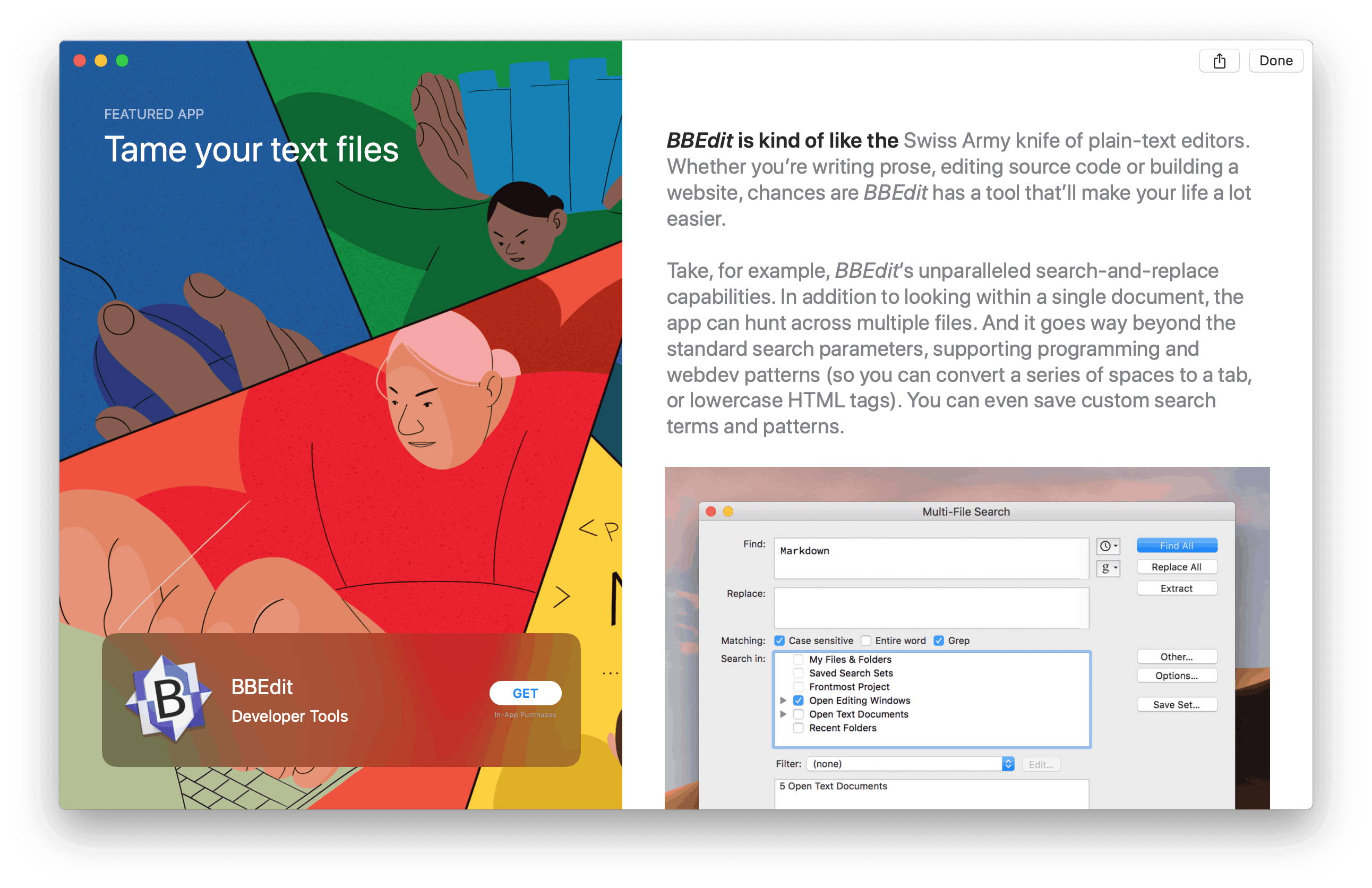 BBEdit by Mac App Store