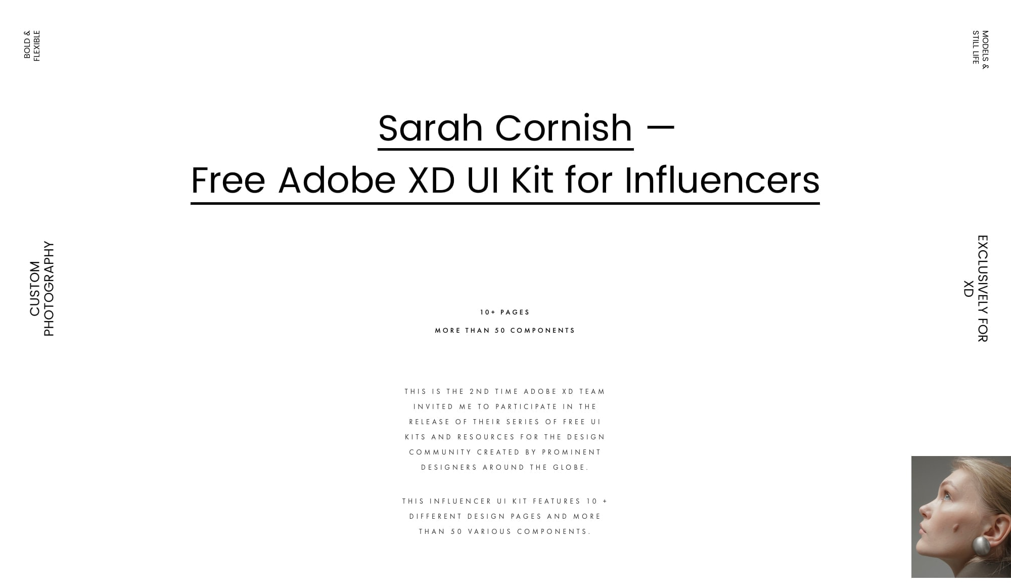 Fashion Influencer UI Kit for Adobe XD from UIGarage