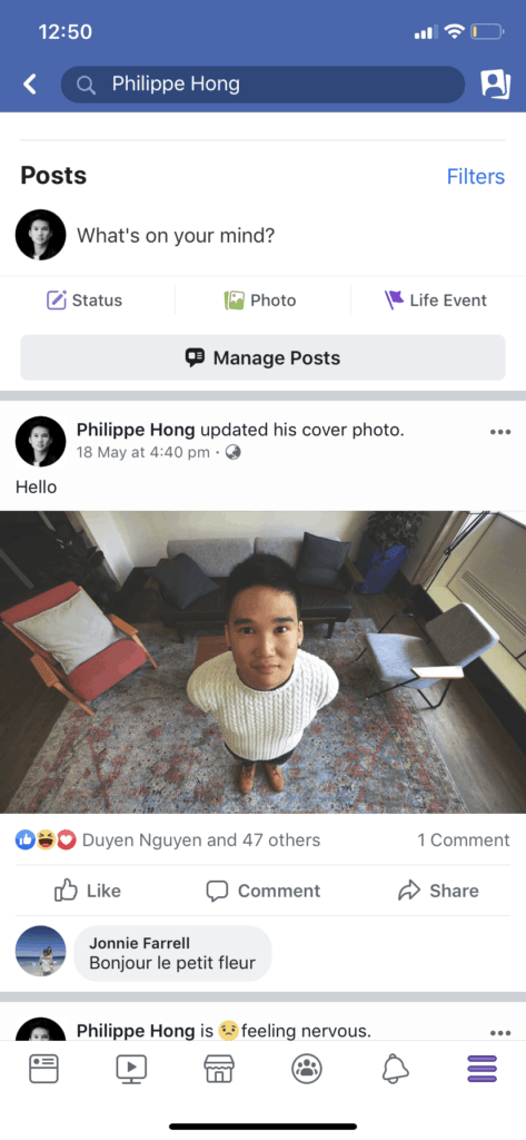 Profile Page on iOS by Facebook from UIGarage
