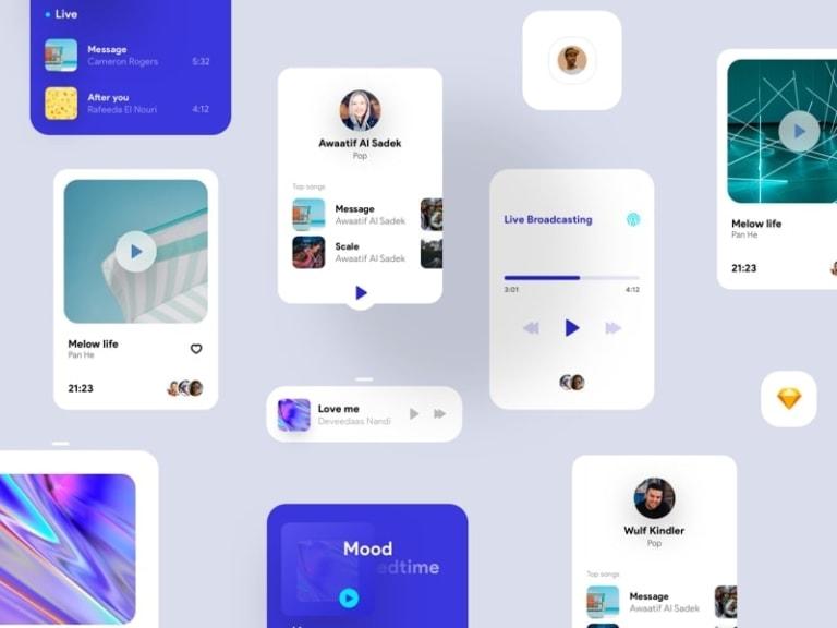 Orizon Music Player UI Kit from UIGarage
