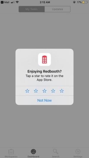 Alert on iOS by Redbooth from UIGarage