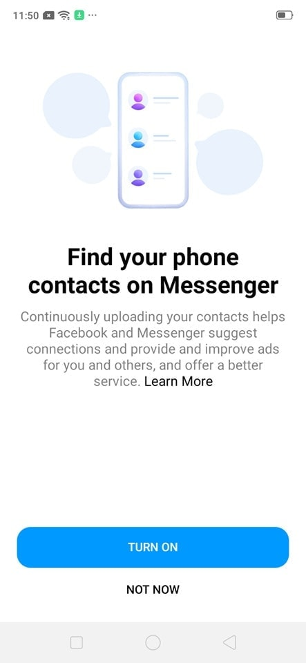 Ask Permission on Android by Messenger