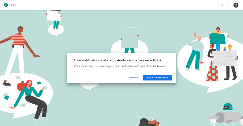 Ask Permission by Google Chat from UIGarage