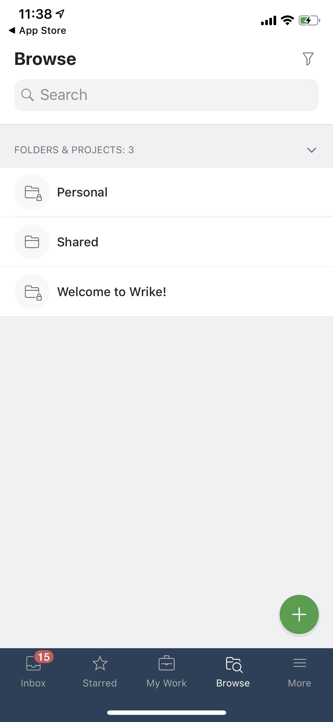 Browse on iOS by Wrike from UIGarage