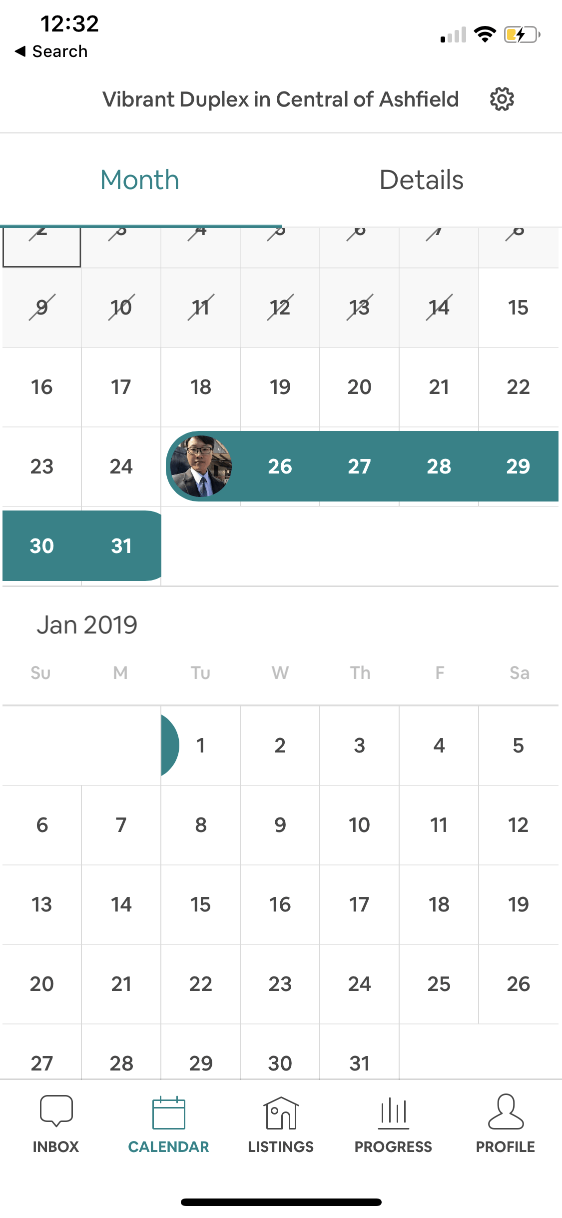 Calendar on iOS by Airbnb