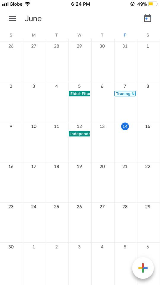 Calendar on iOS by Google Calendar