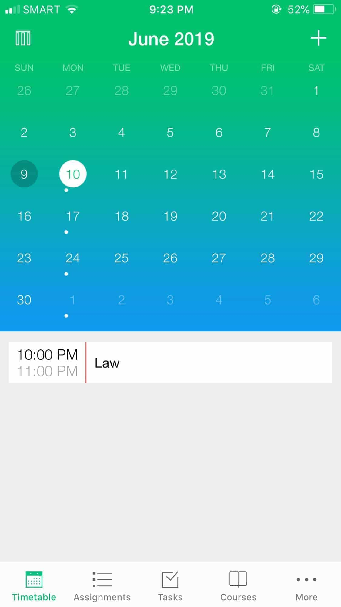 Calendar on iOS by Pocket Schedule from UIGarage