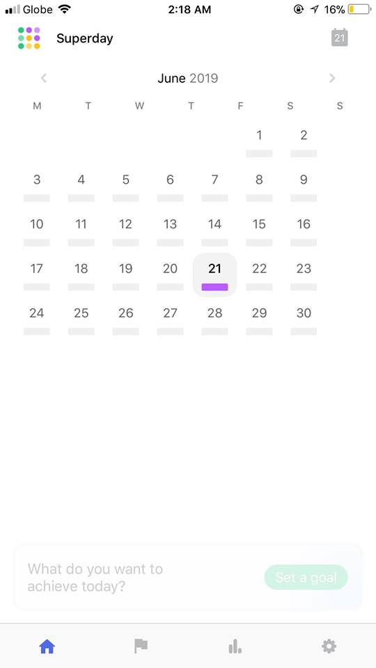 Calendar on iOS by Superday from UIGarage