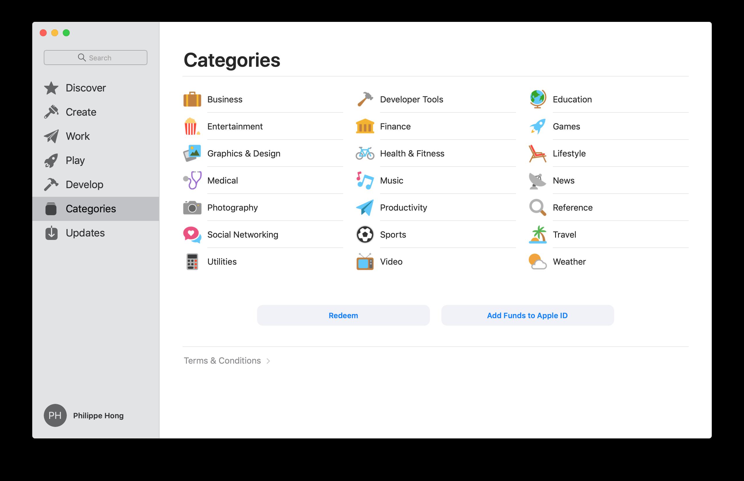 Categories by Mac App Store