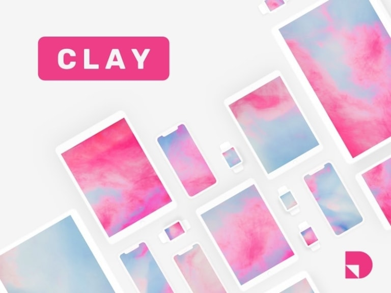 Clay — A free minimalist mockup kit from UIGarage