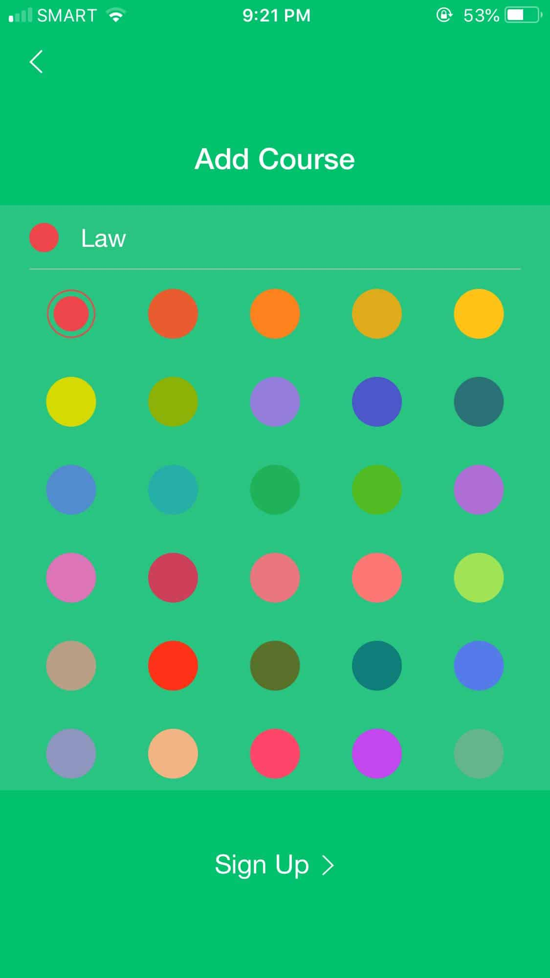 Color Picker on iOS by Pocket Schedule from UIGarage