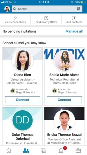 Connections on iOS by LinkedIn from UIGarage