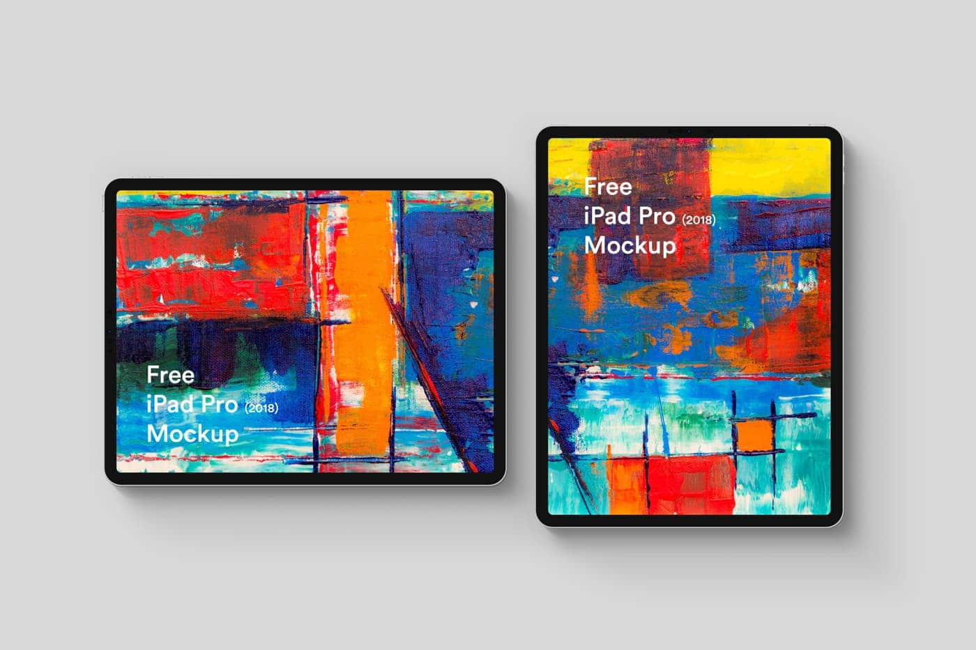 Free iPad Pro 2018 Mockup from UIGarage