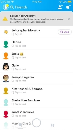 Friends on iOS by Snapchat 2019 from UIGarage