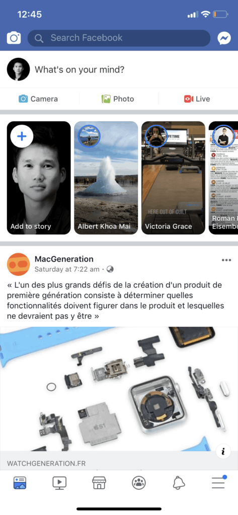 Newsfeed on iOS by Facebook from UIGarage