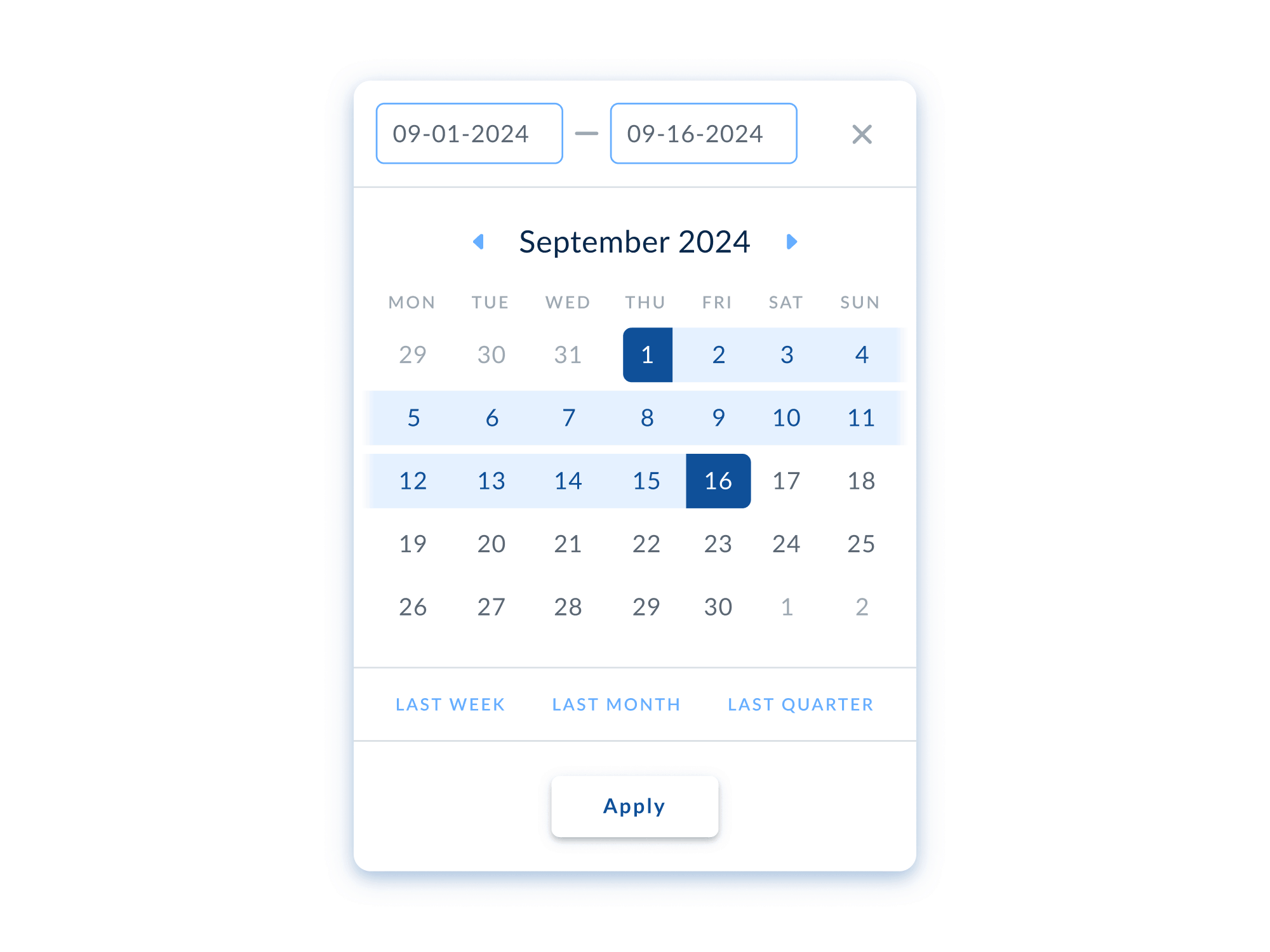 Desktop calendar Date Picker