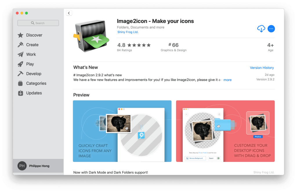 Image2icon by Mac App Store from UIGarage