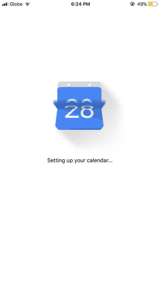Loading on iOS by Google Calendar