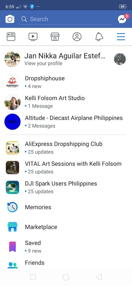 Menu on Android by Facebook from UIGarage