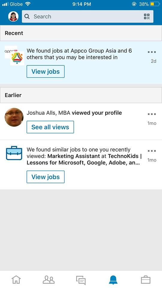 Notifications on iOS by LinkedIn from UIGarage
