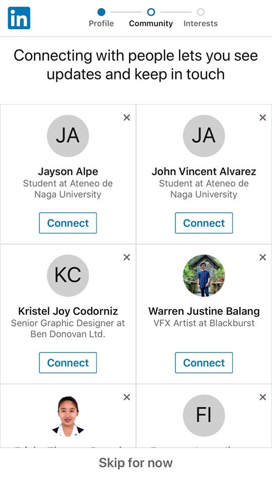Onboarding on iOS by LinkedIn from UIGarage