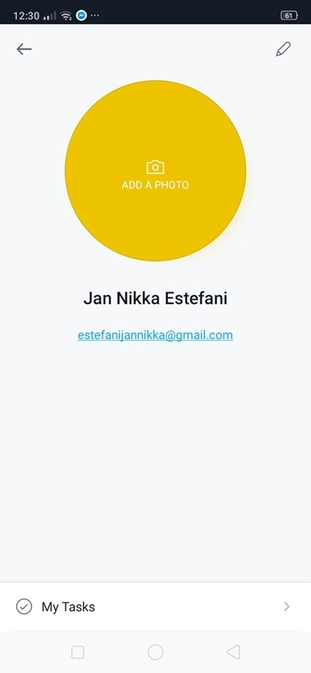 Profile on Android by Asana from UIGarage
