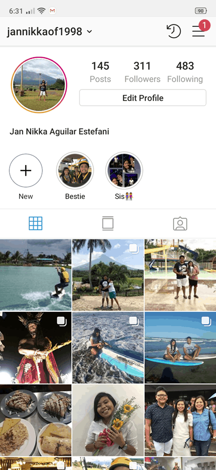 Profile on Android by Instagram