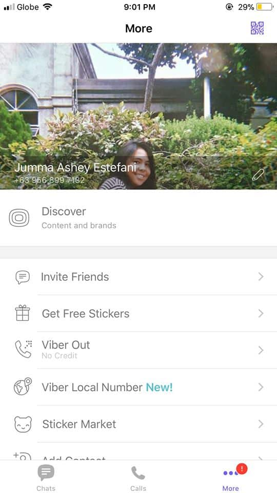 Profile on iOS by Viber from UIGarage